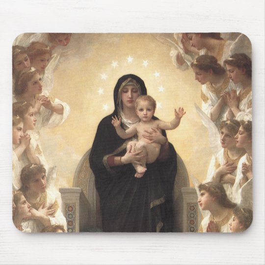 Victorian Angels, Regina Angelorum by Bouguereau Mouse Pad