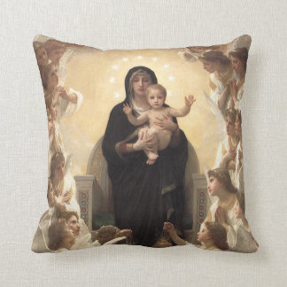 Victorian Angels, Regina Angelorum by Bouguereau Throw Pillow