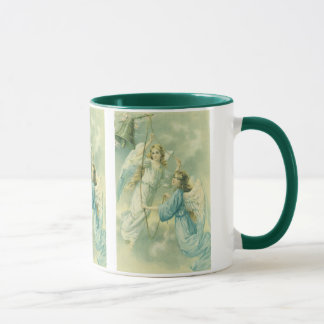 Victorian Angels with a Bell, Vintage Christmas Mug
