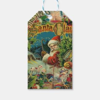 Victorian antiguo del vintage de Papá Noel del Etiquetas Para Regalos