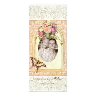 Victorian Antiqued subió casando la invitación Invitación 10,1 X 23,5 Cm