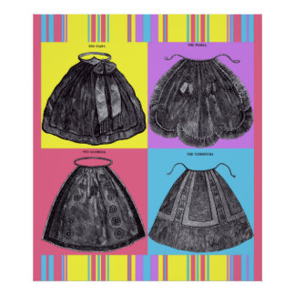 Victorian Aprons Spring Posters