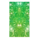Victorian Arabesque, ALAMEDA in Green Double-Sided Standard Business Cards (Pack Of 100)