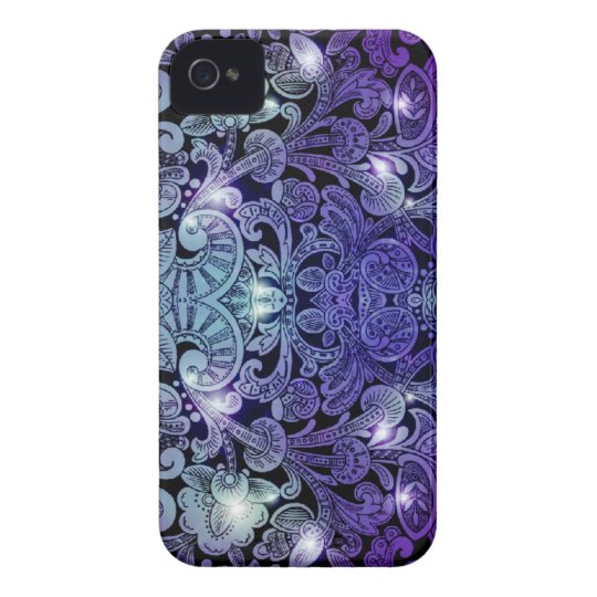 Victorian Arabesque, ALAMEDA - Navy & Purple iPhone 4 Case-Mate Case