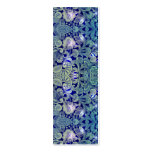 Victorian Arabesque, ALAMEDA - Navy & Sea Green Double-Sided Mini Business Cards (Pack Of 20)
