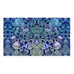 Victorian Arabesque, ALAMEDA - Navy & Sea Green Double-Sided Standard Business Cards (Pack Of 100)