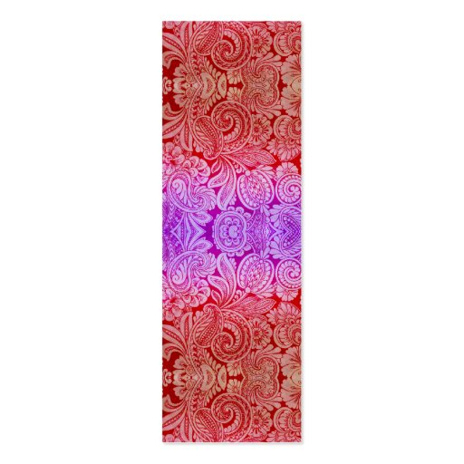 Victorian Arabesque, HALYDON in Red & Purple Business Cards
