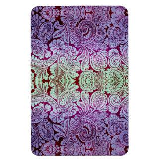 Victorian Arabesque, HALYDON - Lavender & Plum Rectangular Photo Magnet