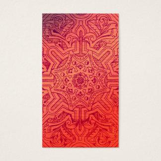 Victorian Arabesque, IDALIS - Flamingo Business Card