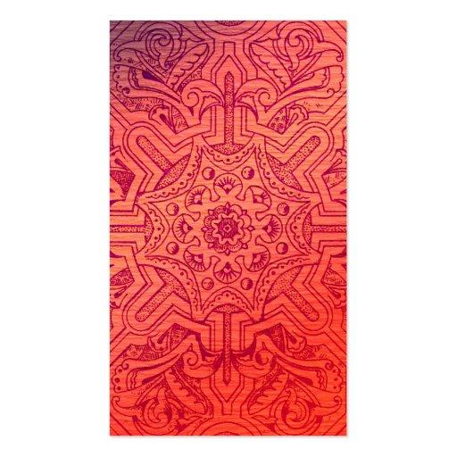 Victorian Arabesque, IDALIS - Flamingo Business Cards
