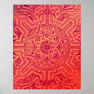 Victorian Arabesque, IDALIS - Flamingo Poster