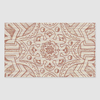 Victorian Arabesque, IDALIS - Parchment Rectangular Sticker