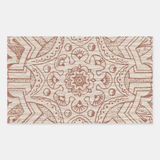 Victorian Arabesque, IDALIS - Parchment Rectangle Sticker