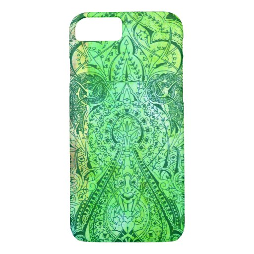 Victorian Arabesque, KASBAH - Green & Lime iPhone 8/7 Case