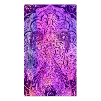 Victorian Arabesque, KASBAH - Purple & Pink Business Card Template