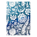 Victorian Arabesque, LADY CIARA - Blue & White Large Business Cards (Pack Of 100)