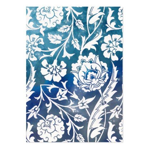 Victorian Arabesque, LADY CIARA - Blue & White Business Card