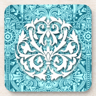 Victorian Arabesque, MAGIC CARPET in Teal & Aqua Coasters