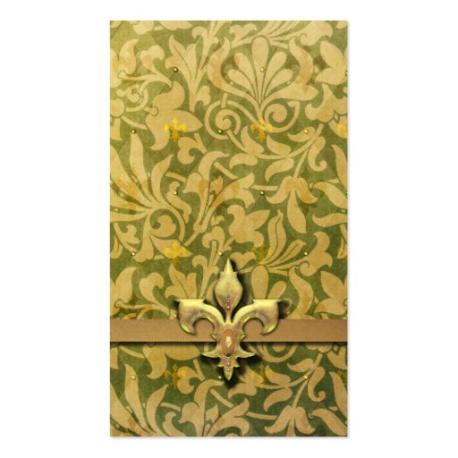 Victorian Arabesque, NOBLESSE - Gold & Green Business Card Templates