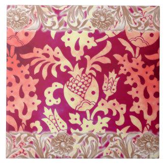 Victorian Arabesque, POMEGRANATE NOUVEAU Ceramic Tiles
