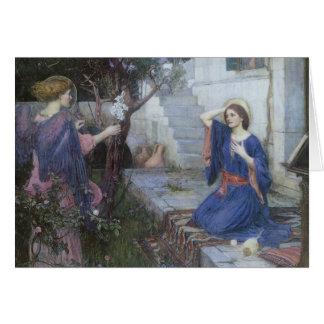 Victorian Art, Annunciation by JW Waterhouse Card