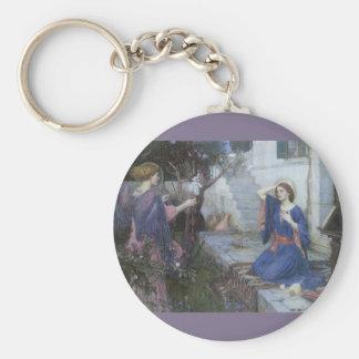 Victorian Art, Annunciation by JW Waterhouse Keychain