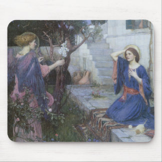 Victorian Art, Annunciation by JW Waterhouse Mouse Pad