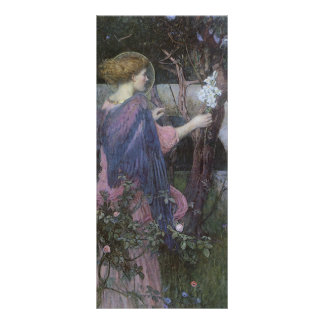 Victorian Art, Annunciation by JW Waterhouse Personalized Rack Card