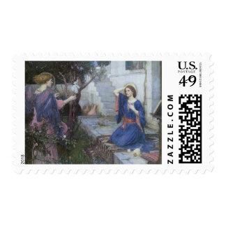 Victorian Art, Annunciation by JW Waterhouse Postage