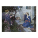Victorian Art, Annunciation by JW Waterhouse Poster