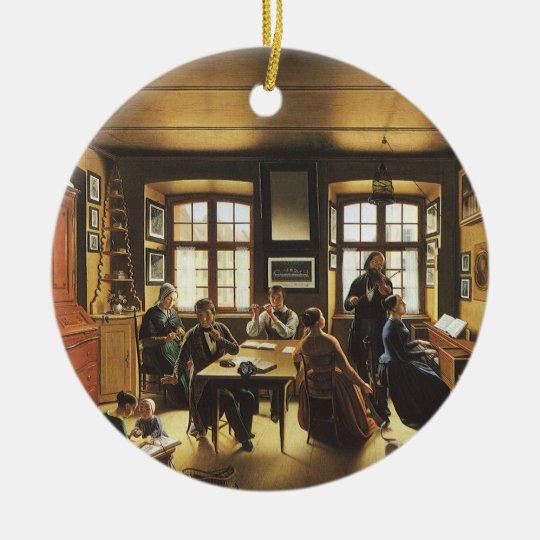 Victorian Art, Basel Family Concert by Gutzwiller Ceramic Ornament