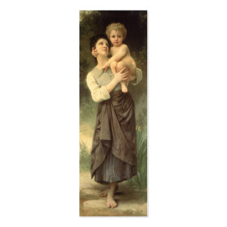 Victorian Art, Brother and Sister by Bouguereau Mini Business Card