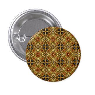 Victorian Art Deco Medieval Pattern Gold Design Button