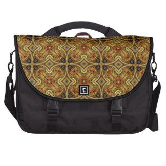 Victorian Art Deco Medieval Pattern Gold Design Laptop Commuter Bag