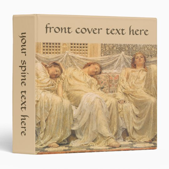 Victorian Art, Dreamers by Albert Joseph Moore 3 Ring Binder