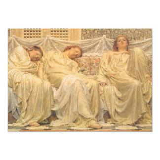 Victorian Art, Dreamers by Albert Joseph Moore Card