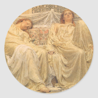 Victorian Art, Dreamers by Albert Joseph Moore Classic Round Sticker