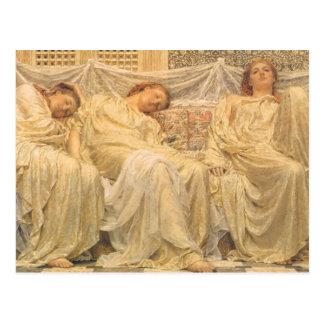 Victorian Art, Dreamers by Albert Joseph Moore Postcard