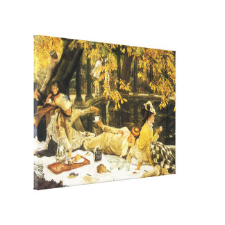 Victorian Art, Holyday, The Picnic by James Tissot Canvas Print