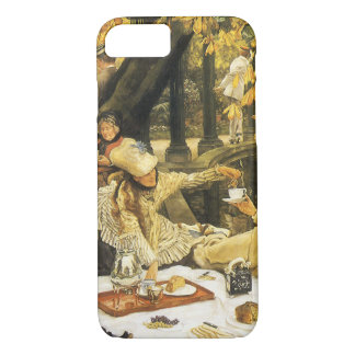 Victorian Art, Holyday, The Picnic by James Tissot iPhone 8/7 Case