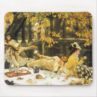 Victorian Art, Holyday, The Picnic by James Tissot Mouse Pad