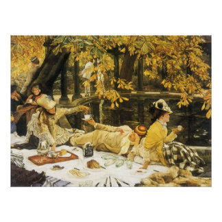 Victorian Art, Holyday, The Picnic by James Tissot Poster