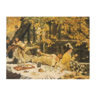 Victorian Art, Holyday, The Picnic by James Tissot Wood Wall Decor