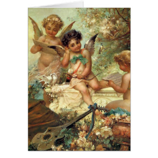 Victorian Art, Musician Angels by Hans Zatzka Card