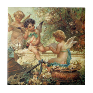 Victorian Art, Musician Angels by Hans Zatzka Ceramic Tile