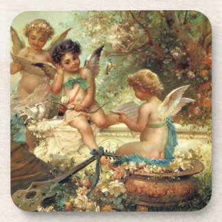 Victorian Art, Musician Angels by Hans Zatzka Coaster