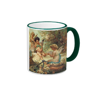 Victorian Art, Musician Angels by Hans Zatzka Ringer Coffee Mug