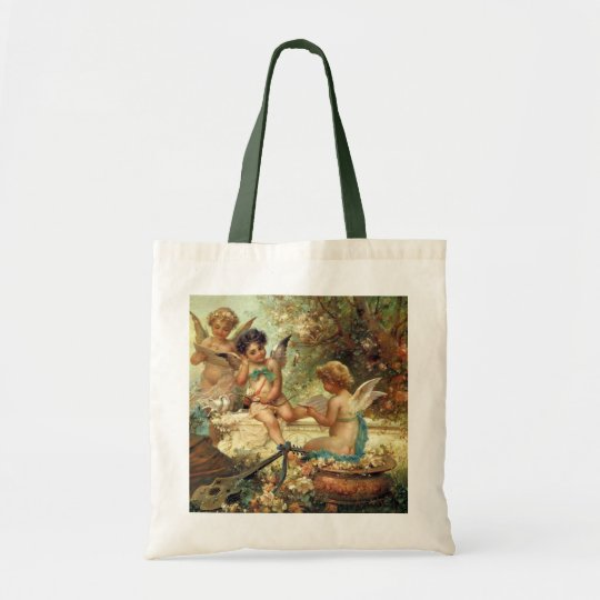 Victorian Art, Musician Angels by Hans Zatzka Tote Bag