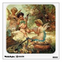 Victorian Art, Musician Angels by Hans Zatzka Wall Sticker