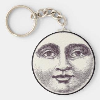 Victorian/art nouveau Man in the moon keychain